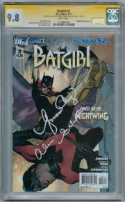 Batgirl #3 First Print CGC 9.8 Signature Series Signed Alicia Silverstone & Yvonne Craig DC comic book